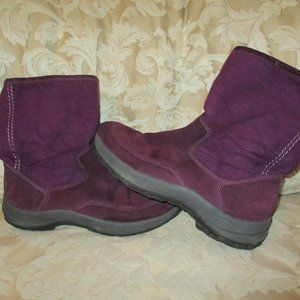 LL Bean Plum Purple Fleece Lined Tall Ugg Boots